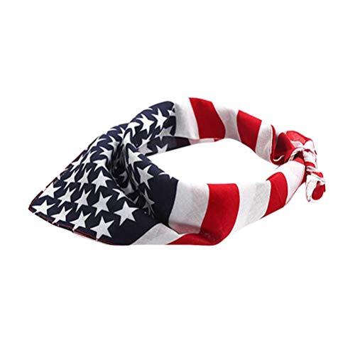 PRETYZOOM Bandera Americana Perro Perro Bandana Da de La Independencia Cachorro Collar EE UU Tringulo Babero Pauelo Disfraz Toalla Cachorro Gato Vestir Accesorios 55Cm