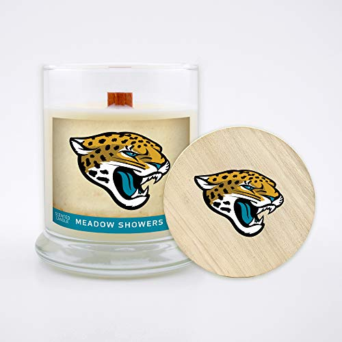 Worthy Promo NFL Atlanta Falcons Gifts 8oz Scented Candle Soy Wax w//Wood Wick and Lid Balsam Fir