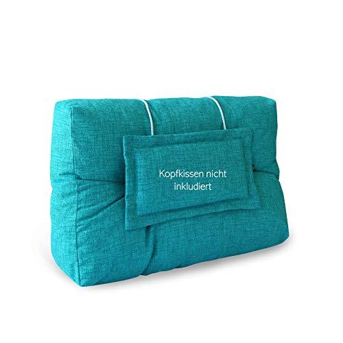 LILENO HOME Palettenkissen Set Aqua - Rücken- / Seitenkissen 60x40x10/20 cm - Polster für Europaletten - Palettenkissen Outdoor als Sitzkissen für Palettenmöbel