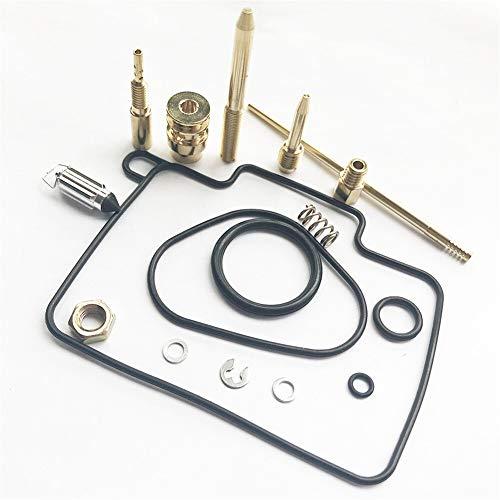 BGTR Accesorios de Moto Kit de reparación carburador Compatible for Yamaha YZ125 1999-2000 Carburador Carb Reconstruir Las Piezas de Recambio Set con Juntas Jet