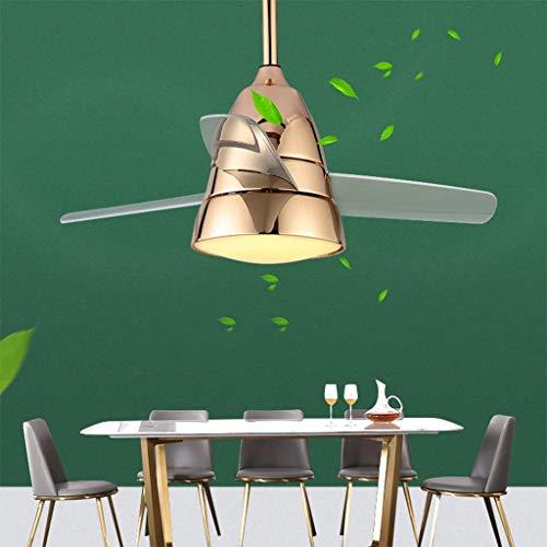 AI LI WEI Ventilador de Techo con luz LED y Mando Macarons de Intensidad Regulable Modern Kids Nursery Habitación Sala de Juegos decoración, Oro, 66cm (Color : Gold, Size : 66cm)