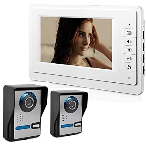 mrjg 7'Sistema de intercomunicación de la Puerta con Cable de 7' Video Doorphone Inicio Seguridad Cámara Monitor Monitor de la Oficina Inicio Video Video Visual Interphone (Color : 816FA21)