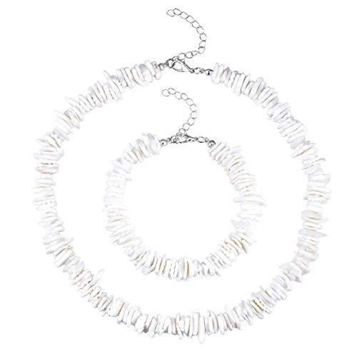 Gargantilla de conchas de concha de puka con cadena de conchas de conchas marinas y joyería hawaiana de verano para niñas y mujeres