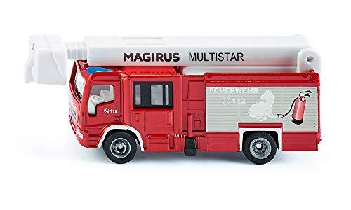 siku 1749 Camión de bomberos Magirus Multistar TLF, Mástil telescópico, 1:87, Metal/Plástico,...