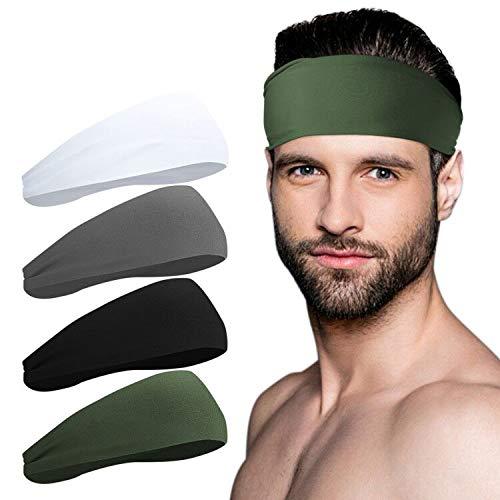JOEYOUNG Sport Headbands for Men and Women - Mens Headband, Workout Sweatband Headband for Running, Yoga, Fitness, Gym - Performance Stretch/Lightweight
