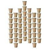 Cabilock 50 Piezas de Pulpa de Turba Bandeja de Inicio Planta de Germinación Maceta Maceta Biodegradable Kit de Plantación para Interior Y Exterior