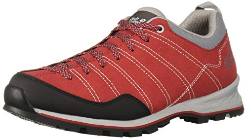 Jack Wolfskin Herren Scrambler Low M Trekking- & Wanderhalbschuhe, Rot (Red/Light Grey 2106), 47 EU