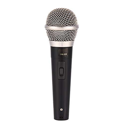 Micrófono dinámico omnidireccional para interpretación de música vocal de karaoke, micrófono de voz claro con cable profesional de mano, sonido más claro y fuerte.