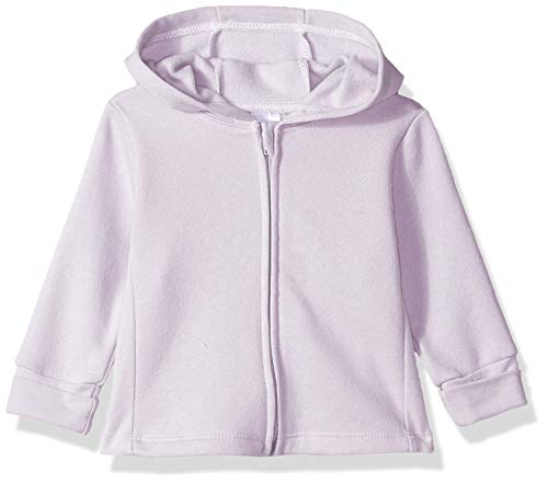 Hanes Ultimate Baby Zippin Fleece Hoodie, Light Grey, 0-6 Months