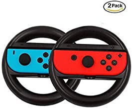 Nintendo Switch Joy-Con Wheel Pair, Joy-con Steering Wheel Handle Controller for Nintendo Switch, 2 x Black