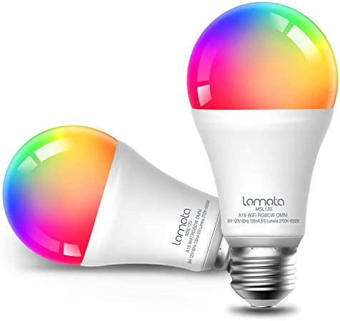 Lomota Smart Light Bulb Dimmable 2700K 6500K RGBCW 810 Lumens 60W Equivalent Compatible with product image