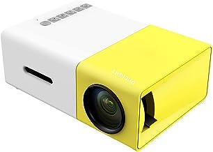 جهاز عرض محمول صغير LCD YG-300 مع مداخل USB SD،AV،HDMI، لون اصفر