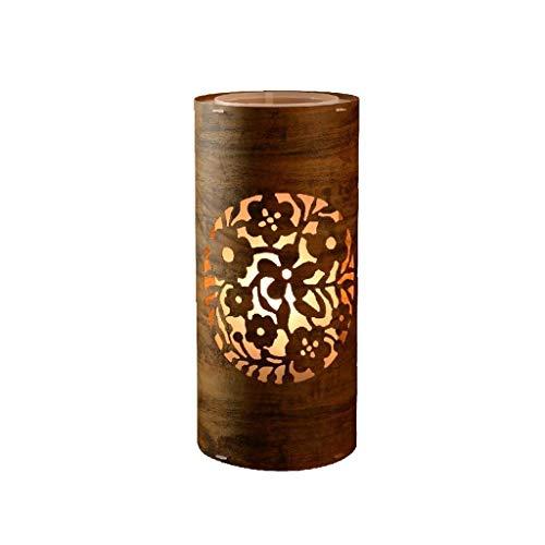 Lámpara de pie Lámpara de mesa Lámpara de mesa tallado cilíndrico hueco chino dormitorio escritorio lámpara regulable Zen iluminación de noche Mesilla de noche lámpara de noche las luces Guardar Ene