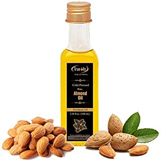 True Oils Naturals Bitter Almond Oil 3.38 fl oz ( 100 ml ) 100 % Pure and Hexane-Free Ideal for Skin and Hair