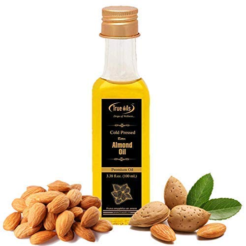 True huiles Pressée à Froid l'huile d'amande Amère rhodié Fl. oz (100 ml) pour les cheveux et le corps de massage