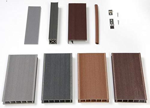 WPC Terrassendiele Hohlkammerdiele 123mygarden Muster Set diverse Farben und Zubehör