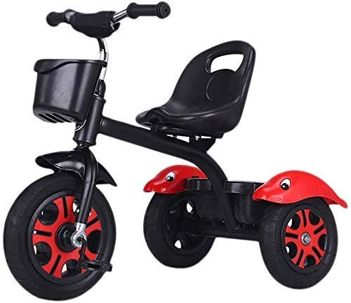 Children's Training Vehicle Children's Tricycle Stroller Kids Bike Children's Tricycle Children Aged 1-2-6 Portable Seat Best Choice for Baby Gifts (Color : Pink) (Color : Black)