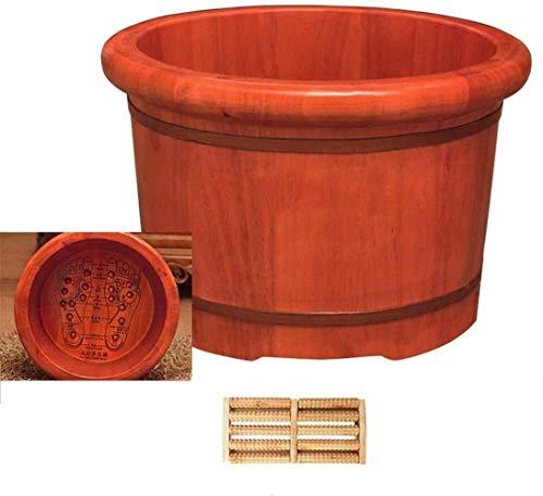 Pedicure Bowl Piede immergiti in legno massello Bagno del piede del piede del pediluvio del bagnoschiù Bagno del bacino del bacino del bacino del piede di legno del bagnoshing domestico Bath Bath Barr