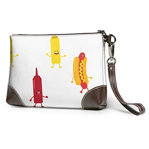 Bottiglie per hot dog Senape e ketchup Trucco da viaggio Custodia per treno Trucco Custodia per cosmetici Organizzatore Borsa per archiviazione per artista portatile Pennelli per trucco Acce