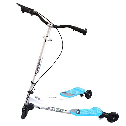 Monopattino a 3 Ruote Tri Push Pieghevole Kickboard Mini Scooter per Bambini di Anni 5+ Portatile Leggero, Freno di Attrito Posteriore, Facile da Ruotare, Regolabile in Altezza da 63-80 cm (EU STOCK)