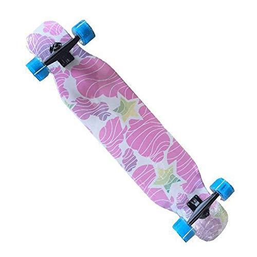46-Zoll-Longboard, Junge, Mädchen, Ahorn Profi Skateboard, Skateboard QIANGQIANG (Color : Black, Size : XS)