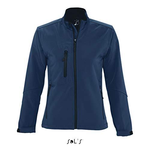 Sol'S Relax - Softshell Femme - Veste zippée à Manches Longues imperméable et Respirante - Bleu Abyss - XXL