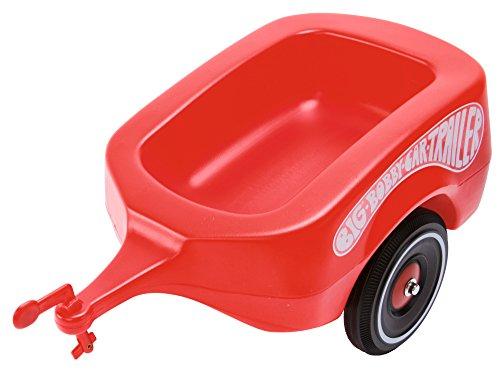 BIG-Bobby-Car Trailer Rot - Bobby-Car Anhänger für drinnen und draußen, für das BIG-Bobby-Car und die BIG-Bobby-Scooter, bis 25 kg, für Kinder ab 1 Jahr