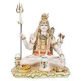 Big Lord Shiva Statue, Mahadev Shankar Sculpture, Marble Shiv Bholenath Figurine, Hindu Religious God Deity, Big Size Shiv Statue, Neelkanth Idol Gift (9 inches)