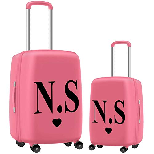 N4U Online Personalised Travel Luggage Suitcase Initials Name Vinyl Decal Stickers 2 X 2 Inches