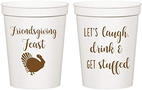 Pumpkin Spice Season Personalized Stadium Plastic Cups Family Thanksgiving Friendsgiving Cups Thanksgiving Cups Family Reunion