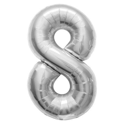 La luchtballonnen 00102 folie ballon, zilver
