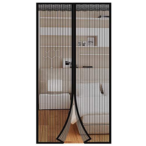 HALOVIE Mosquitera Puerta Magnetica Mosquito 80 x 200cm Cortina Mosquitera Magnética Protección de Insectos Mosca Anti-mosquito Cortina Magnética para Sala de Estar Balcón Patio Habitación, Negro