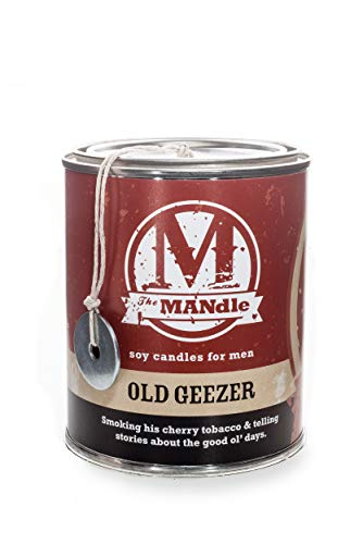 Eco Candle Co. The Mandle Soy Candle for Men - Old Geezer, 15 Oz. Paint Can - 100% Soy Wax, No Lead, Hand Poured, Phthalate Free, Made from Midwest Grown Soybeans, All Natural Wicks