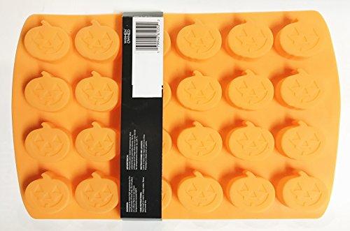 Orange Silicone Pumpkin Halloween Mold - (Makes 24)