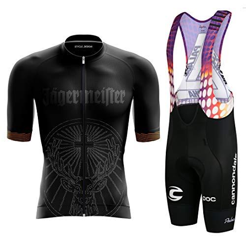 LDLXDR Radsport-Anzüge für Herren-2021Kurzes, schnell trocknendes Fahrradtrikot-Set mit kurzen Ärmeln,M