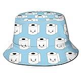 Papel higiénico Patrón de Caca Unisex Viaje al Aire Libre Sombrero de Cubo Sombrero de Verano Protección Solar Gorra de Pescador