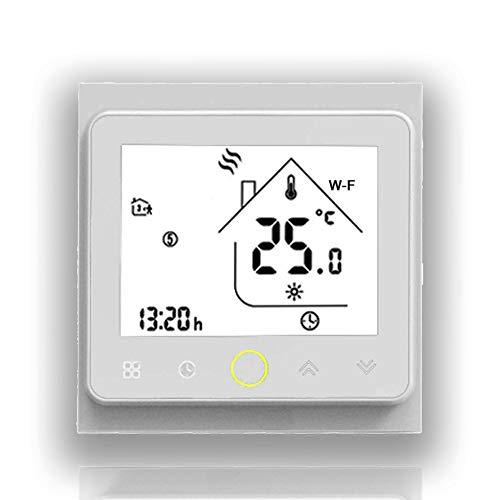 BecaSmart Serie 002 16A LCD Touchscreen Elektroheizung Intelligente Programmiersteuerung Thermostat mit WIFI-Verbindung (Elektroheizung, Volles Weiß(WIFI))