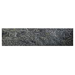 """BACKSPLASH TILES comprised of layers of REAL STONE, Engineered Bonding Resin, Fiberglass, Adhesive Base INCLUDES ONE PEEL and STICK TILE, easy installation, no contractor required - 100% Money Back Guarantee NO GROUT REQUIRED this 1/8"""" thick mosaic t..."""
