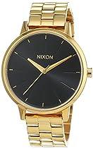 Nixon Damen-Armbanduhr Kensington All Gold/Black Sunray Analog Quarz Edelstahl beschichtet A0992042-00