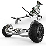 SOUTHERN-WOLF Hoverboards 8.5' con Hoverkart, Self-Balancing Scooter SUV Bluetooth con Sedile, Monopattino Elettrico Go-Kart