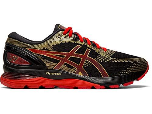 ASICS Women's Gel-Nimbus 21 Running Shoes, 9.5M, Black/Classic RED