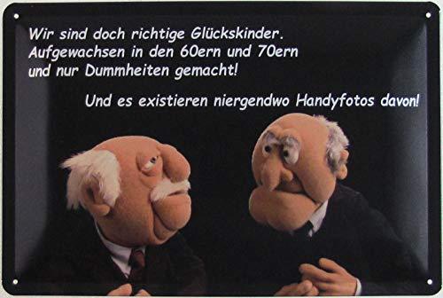 Blechschild 20x30cm gewölbt Waldorf Statler Muppet Show Glückskinder Deko Geschenk Schild