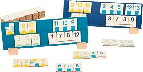 Small Foot Foot 11716 Rummy Zahlenlegespiel aus Holz, Gesellschaftsspiel in modernen Farben, ab 7 Jahren