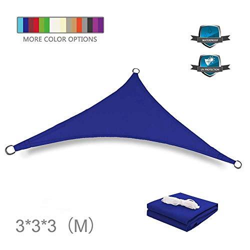 Garten Anti-UV Courtyard Sun Shade Sails Polyester Stoff Wasserdichte Shade Sails Gleichseitiges Dreiecksegel Anti-UV Gazebo Markisendach für Patio-Garten im Freien (anpassbare Farbe und Größe)