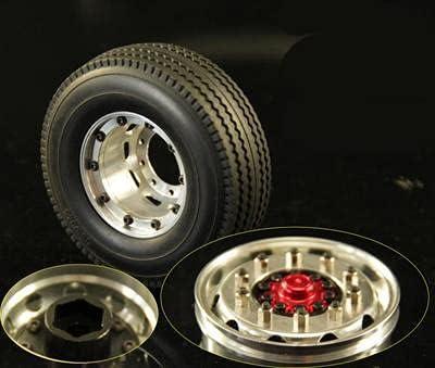 DNKKQ 1 14 Tractor Trailer Lock Max 86% OFF Unpower Wheel Aluminum Hub San Jose Mall Alloy