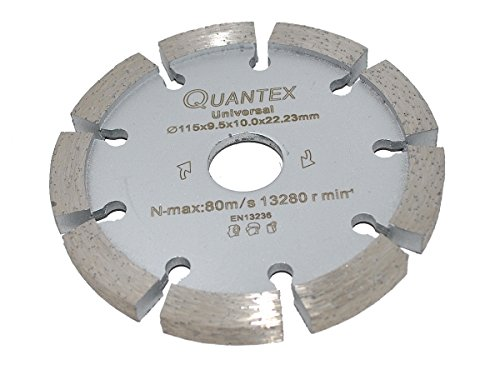 Diamant Frässcheibe Ø 115 mm Segmentstärke 9,5 mm, Fugenfräser für Mauerwerk und Putz