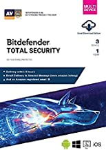BitDefender Total Security Latest Version with Ransomware Protection (Windows / Mac / Android / iOS) - 3 User, 1 Year (Email Delivery in 2 hours - No CD)