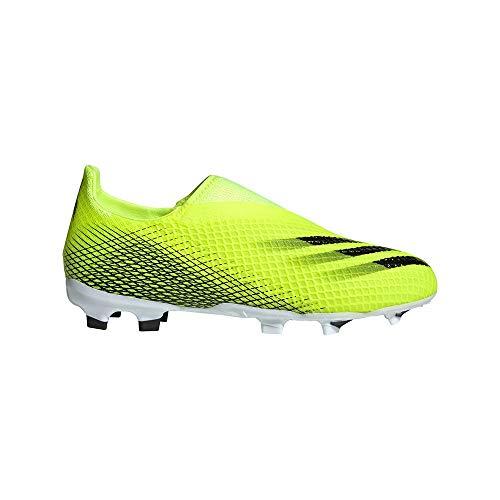 adidas X GHOSTED.3 LL FG J, Zapatillas de fútbol, Amasol/NEGBÁS/AZUREA, 38 EU