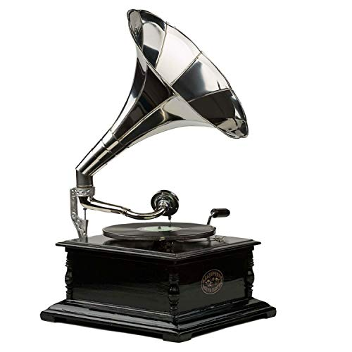 aubaho Nostalgie Grammophon Gramophone Schellackplatten Trichter Grammofon antik Stil