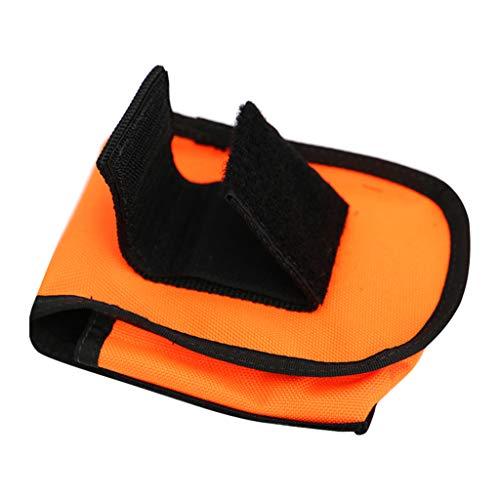 F Fityle Bolsa de Nailon para Lastre para Cinturón de Buceo con Esnórquel Bolsa de Soporte Cinturón - Naranja